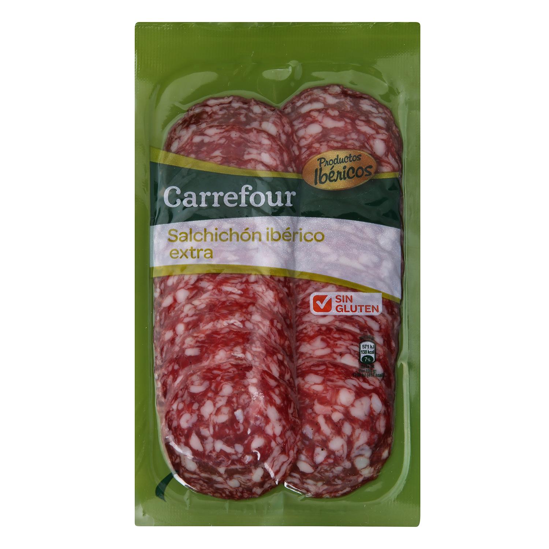 Salchichón Ibérico en lonchas - Sin Gluten Carrefour 100 g.