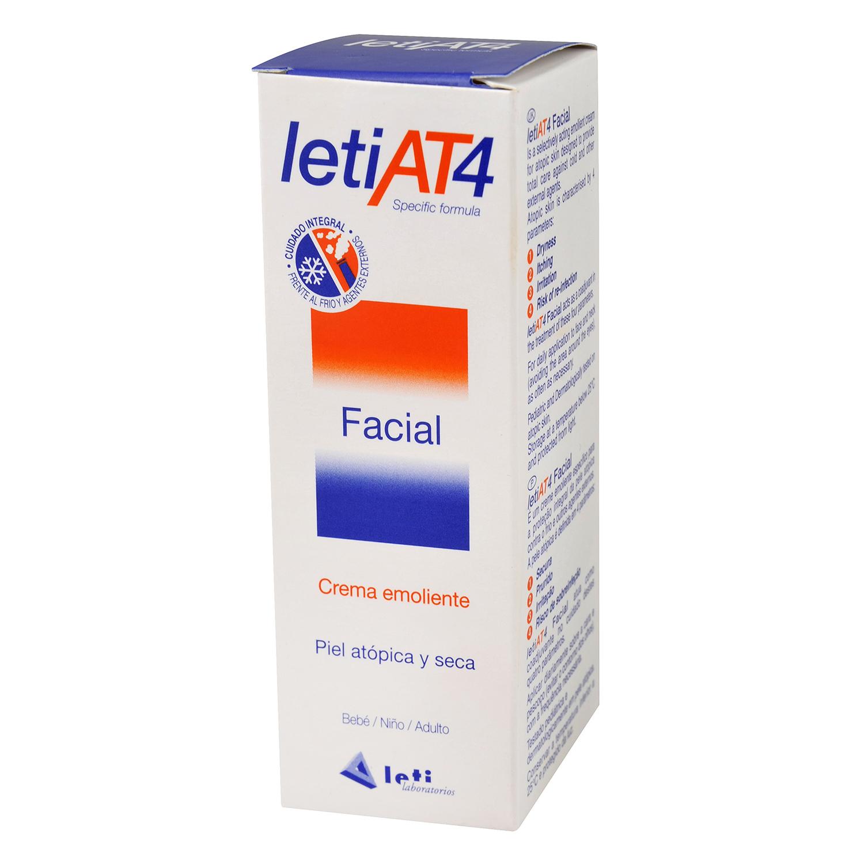 Crema emoliente facial piel atópica y seca AT4 Leti 50 ml.