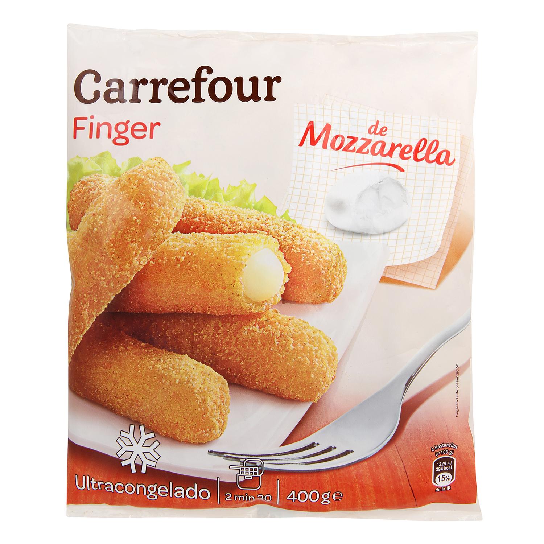 Finger de mozzarella Carrefour 450 g.