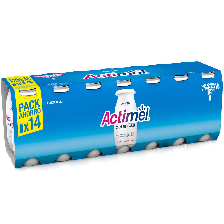 Yogur L.Casei liquido natural Danone Actimel pack de 14 unidades de 100 g. -