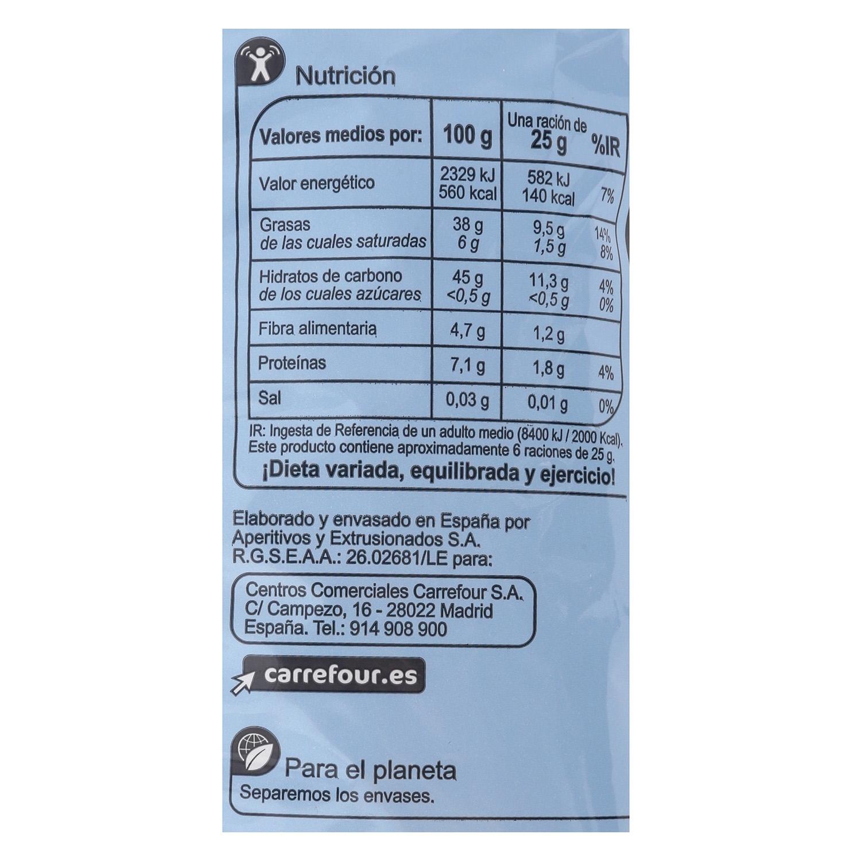Patatas fritas en aceite de oliva contenido bajo de sal Carrefour 150 g. - 2