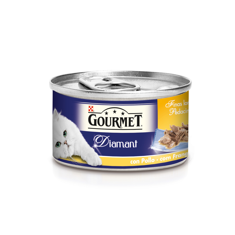 Purina Gourmet Diamant Comida Húmeda para Gato Finas Lonchas Carnes Asadas Pollo 85g