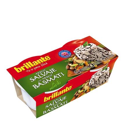 Arroz salvaje y basmati Brillante pack de 2 ud. de 125 g.