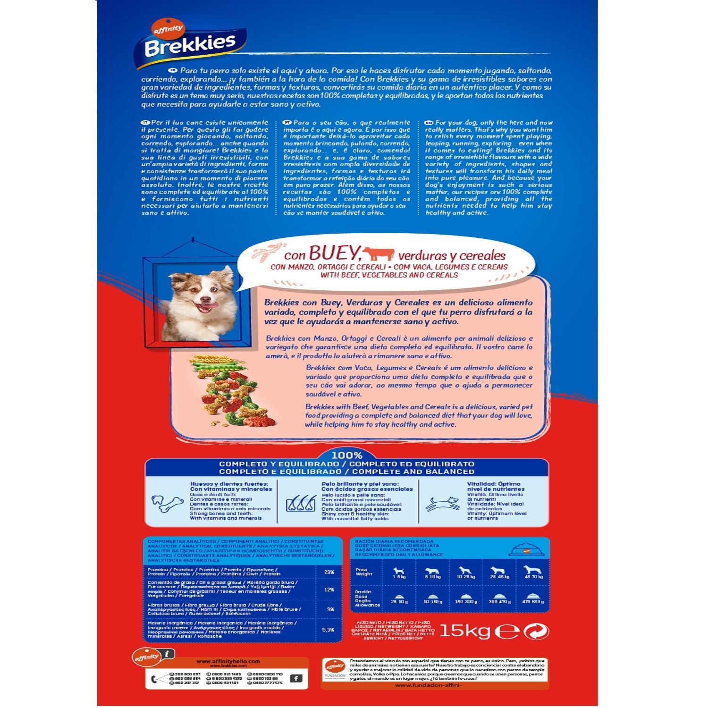Brekkies Pienso para Perros Mix buey  Excel 15 kg - 2