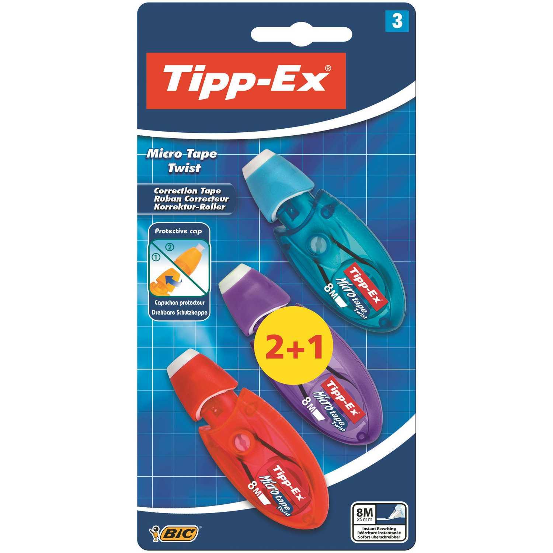 Corrector Cinta Tipp-Ex Micro Tape Twist 2+1