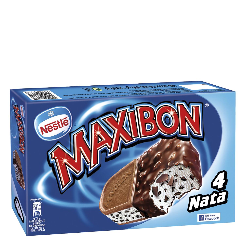 Sandwich de nata Maxibon Nestlé Helados 4 ud.
