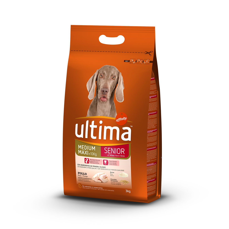 Ultima Pienso para Perro Adulto Medium - Maxi Sabor Pollo 3kg.