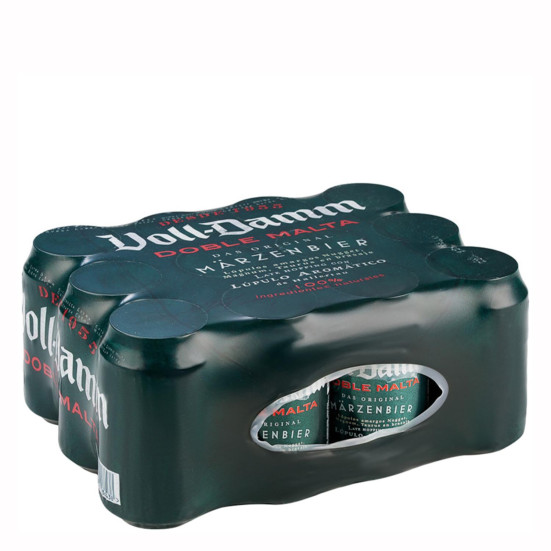 Cerveza Voll Damm doble malta pack de 12 latas de 33 cl.