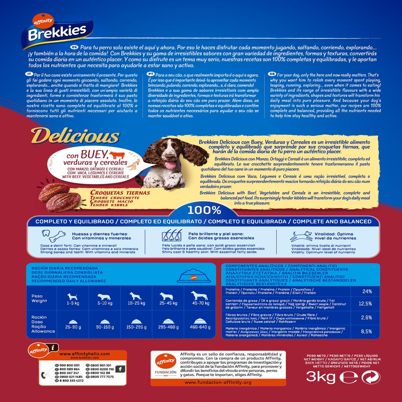 Brekkies Pienso para Perros  Adultos buey 3 kg - 2