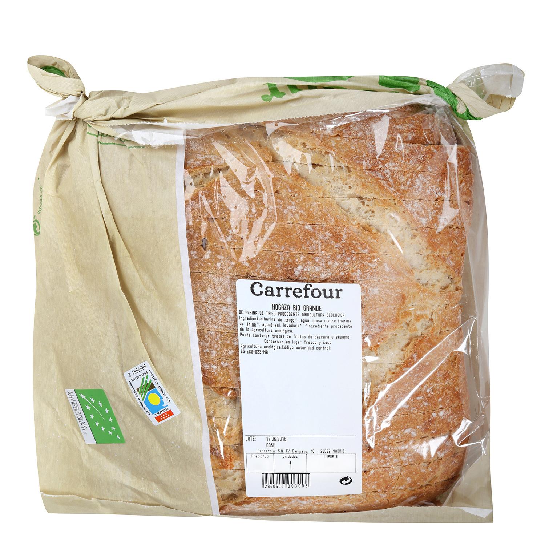 Hogaza de pan ecológica grande Carrefour Bio 800 g aprox - 2