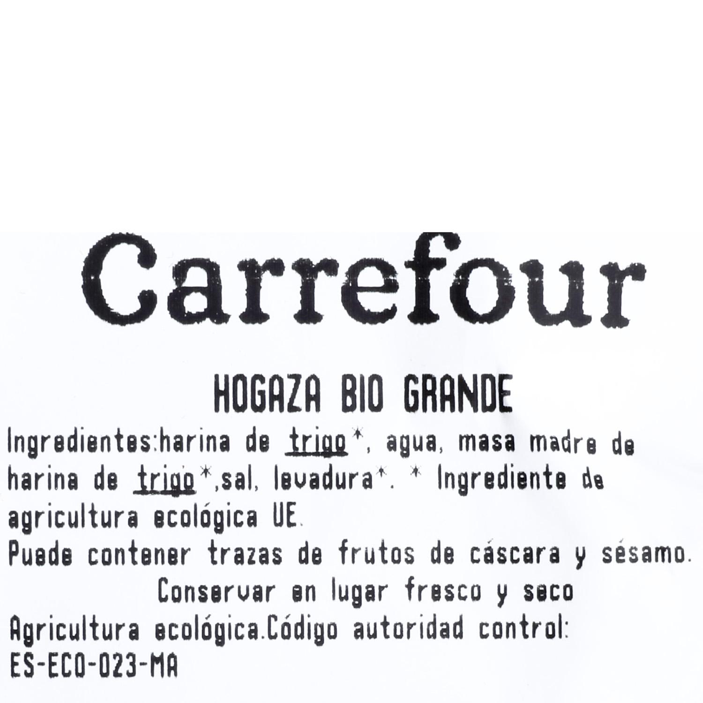 Hogaza de pan ecológica grande Carrefour Bio 800 g aprox - 3