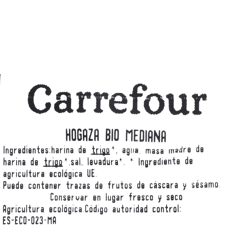 Hogaza de pan ecológica mediana Carrefour Bio 400 g aprox - 3