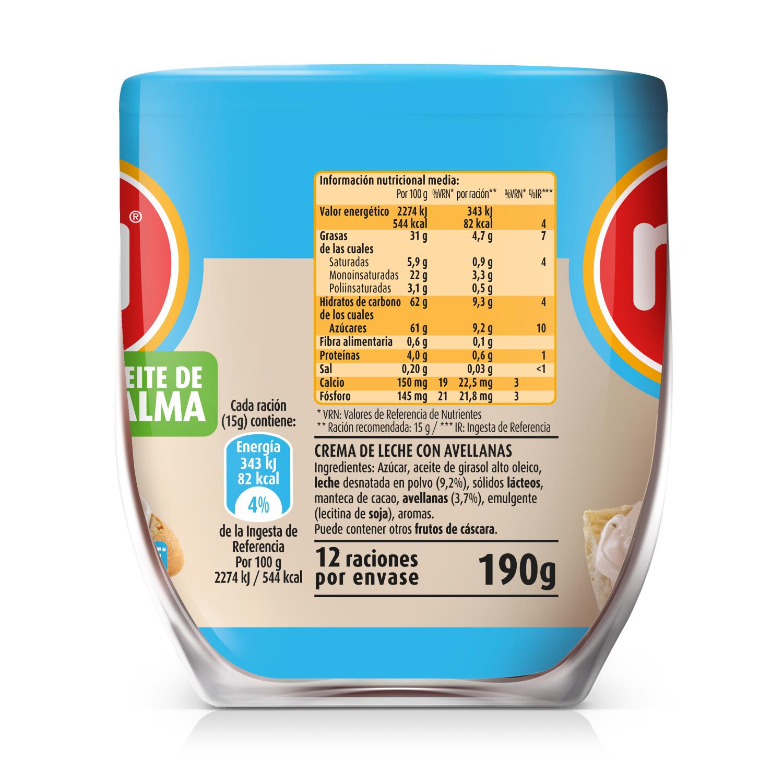 Crema de leche con avellanas -