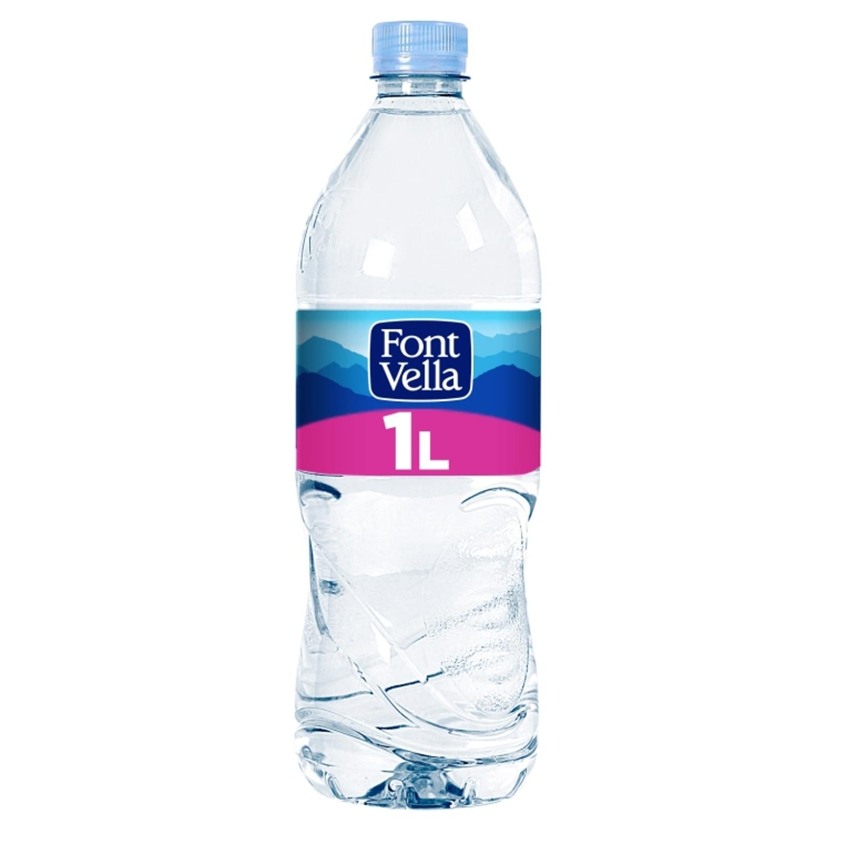 Agua mineral Font Vella natural 1 l.