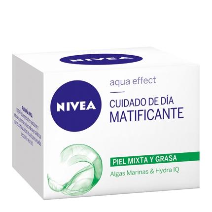 Gel-crema facial con control de brillos para piel mixta y grasa Nivea 50 ml.