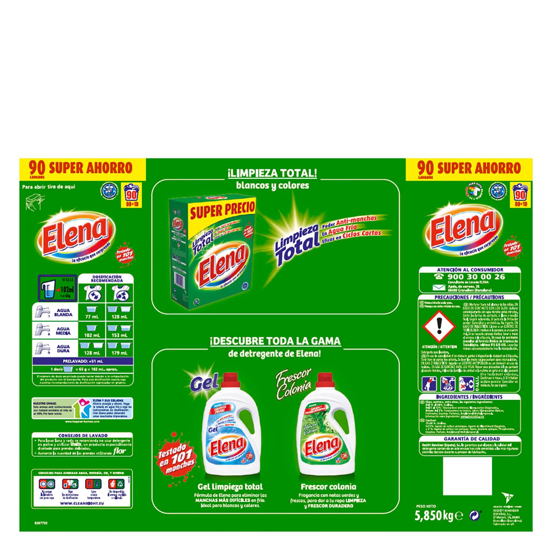 Detergente en polvo Elena 80 cacitos. -
