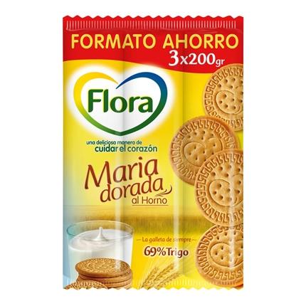 Galletas María dorada Flora 600 g.
