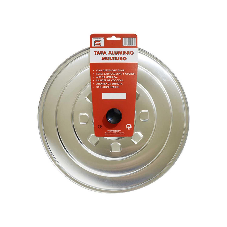 Tapa de Aluminio 28cm - Inox