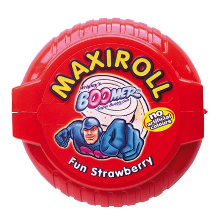 Chicle sabor fresa Mariroll Boomer 1 ud.