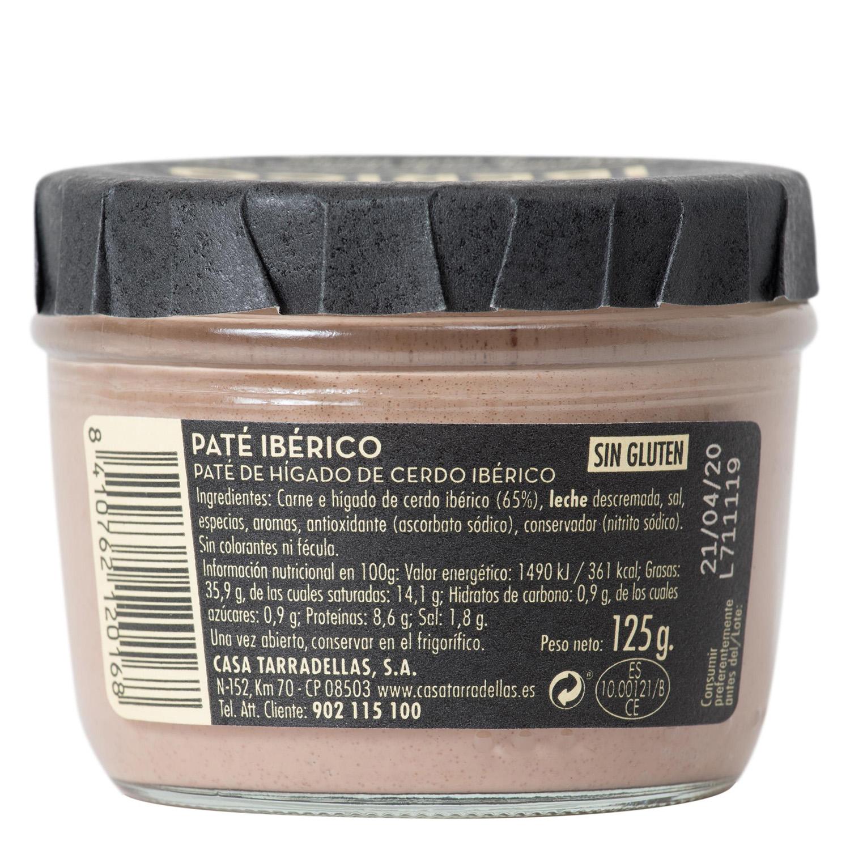 Paté de jamón ibérico Casa Tarradellas 125 g. - 2