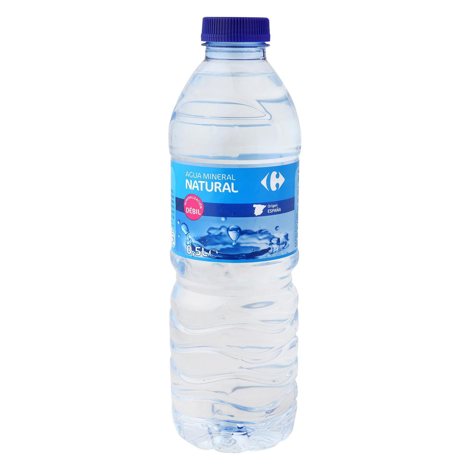 Agua mineral Carrefour natural 50 cl.