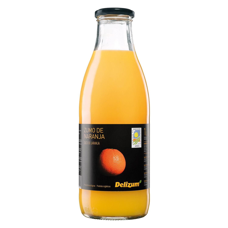 Zumo de naranja ecológico Delizum botella 1 l.