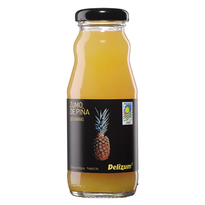 Zumo de piña ecológico Delizum botella 20 cl.