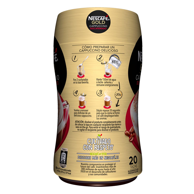 Café soluble cappuccino descafeinado Nescafé 250 g. -