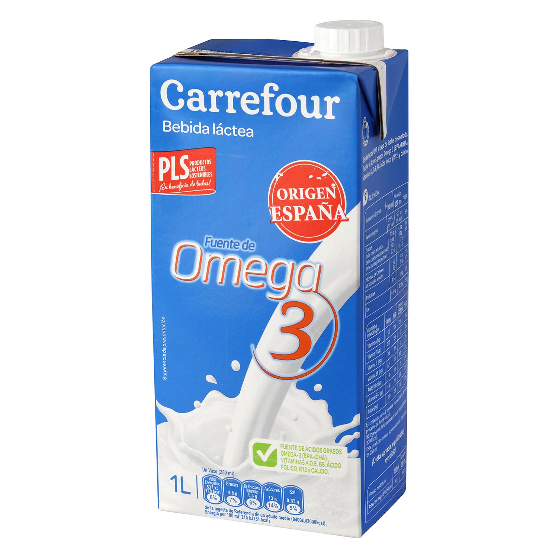 Bebida láctea Carrefour Omega 3 brik 1 l.