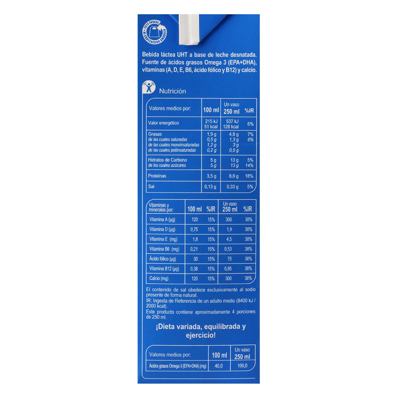 Bebida láctea Carrefour Omega 3 brik 1 l. - 2