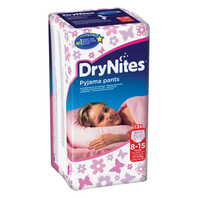 Braguitas absorbentes niña 8-15 años (27-57 kg.) DryNites 13 ud.