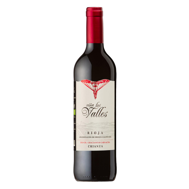 Vino D.O. Rioja tinto crianza ecológico Viña Los Valles 75 cl.