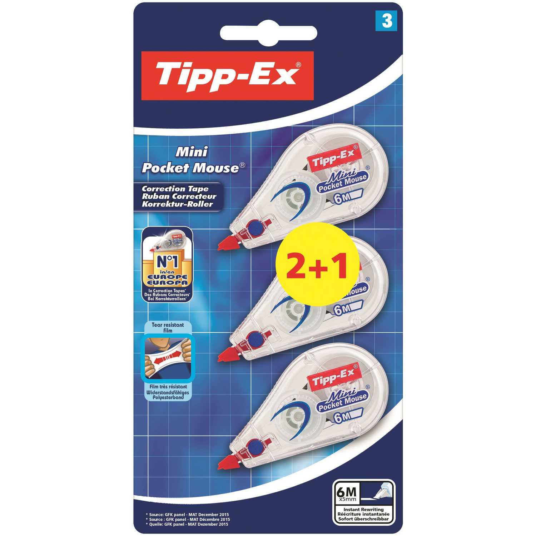 Corrector Cinta Tipp-Ex Mini Pocket Mouse 2+1