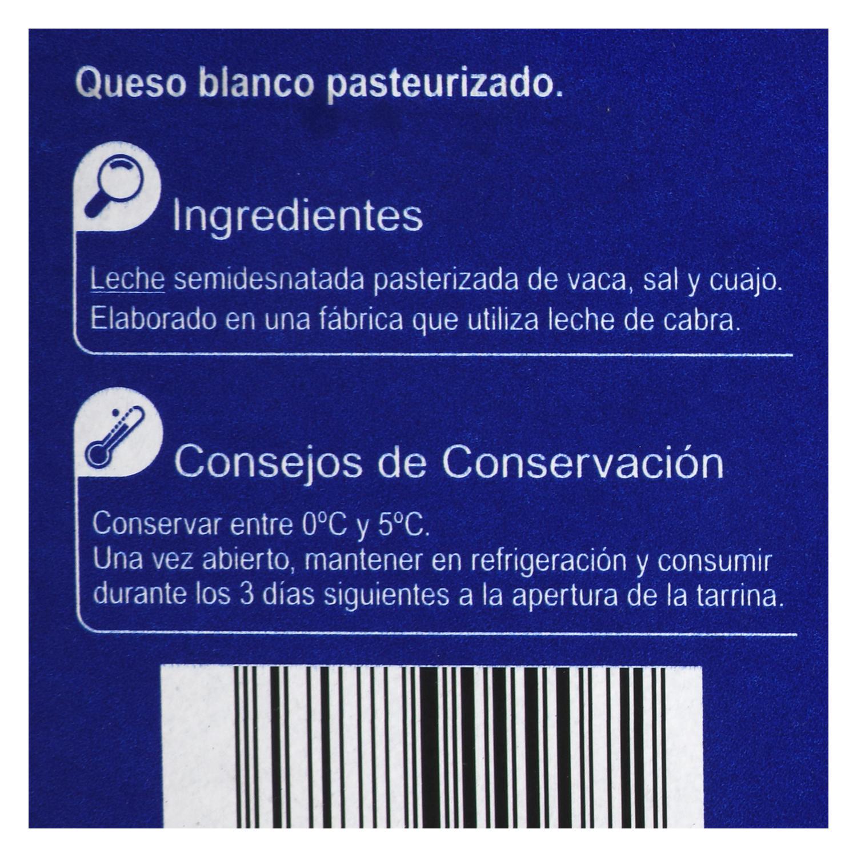 Queso blanco pasteurizado natural - 2
