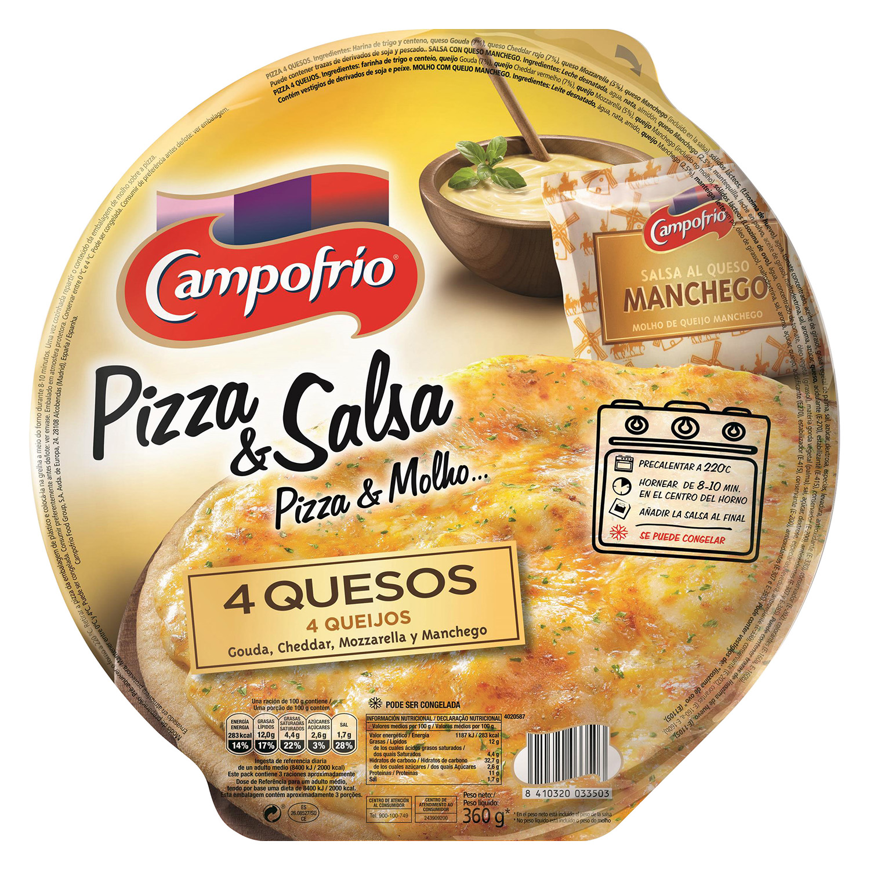 Pizza cuatro quesos Campofrío 360 g.