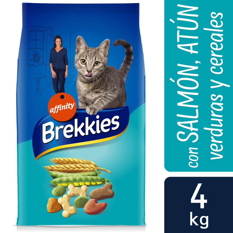 Brekkies Pienso para Gato  Adultos salmón, atún y verdura 4 kg