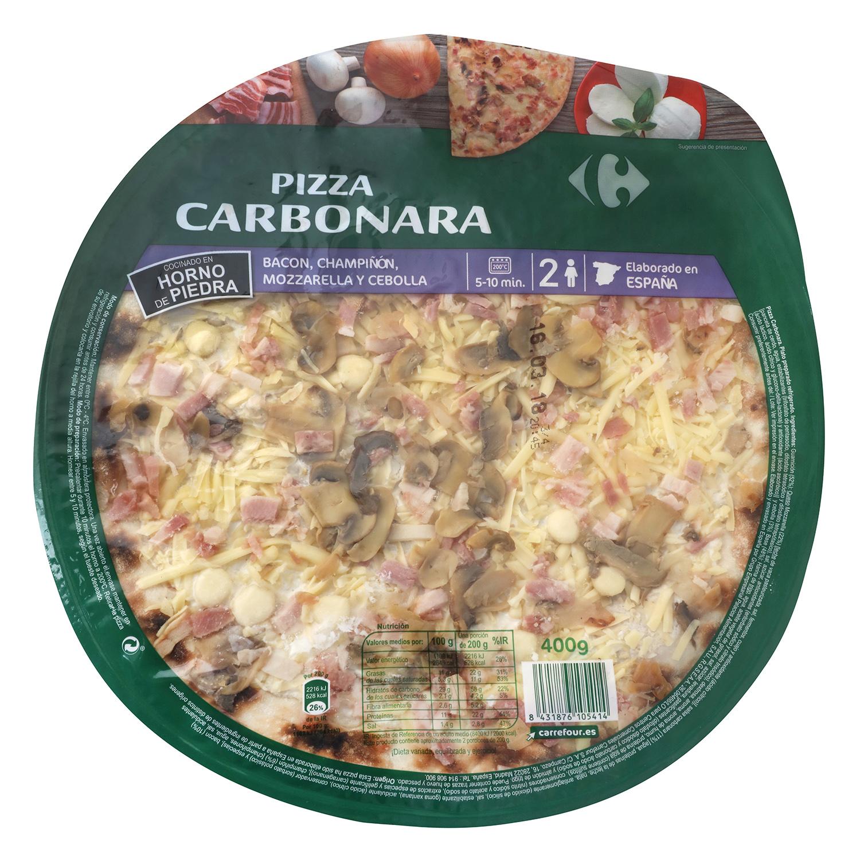 Pizza fresca carbonara Carrefour 400 g.
