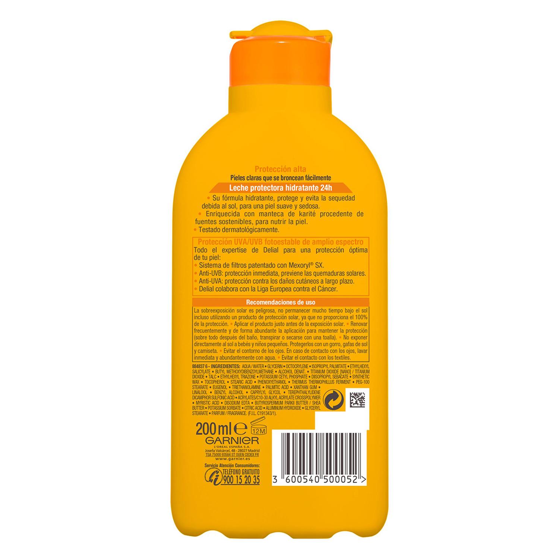 Leche solar para pieles sensibles FP 30 Delial 200 ml. -