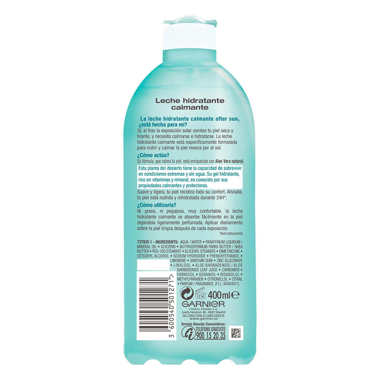 After sun leche hidratante calmante Delial 400 ml. -