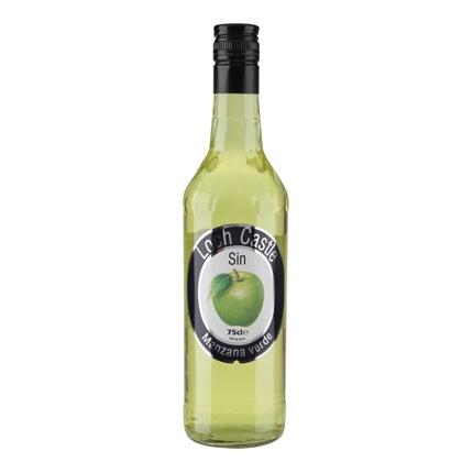 Licor de manzana verde Loch Castle sin alcohol 75 cl.