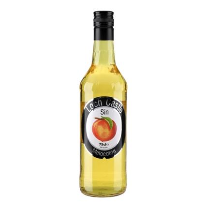 Licor de melocotón Loch Castle sin alcohol 75 cl.