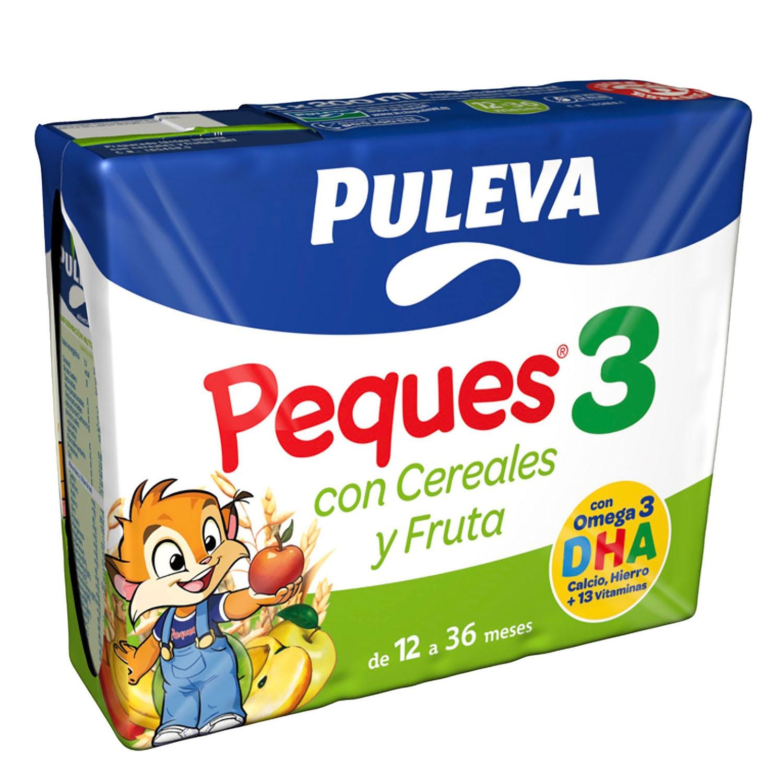 Leche 3 de crecimiento con cereales con fruta líquida Peques 3