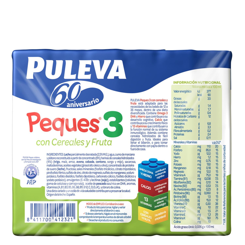 Leche 3 de crecimiento con cereales con fruta líquida Peques 3 -