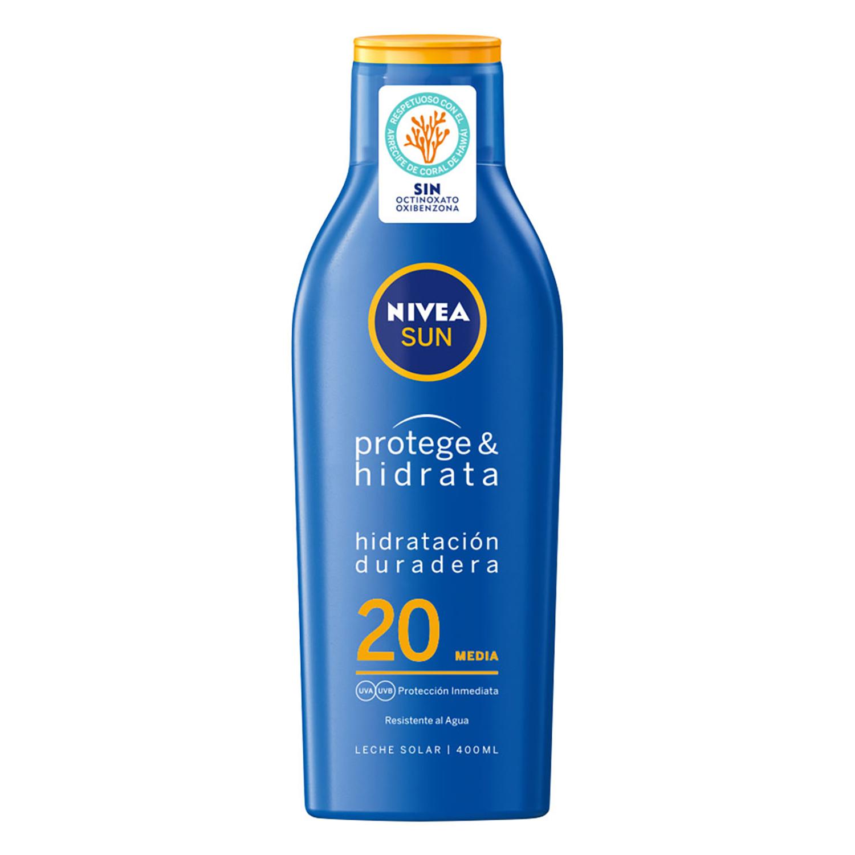 Leche Solar Hidratante FP 20 Nivea Sun 400 ml.