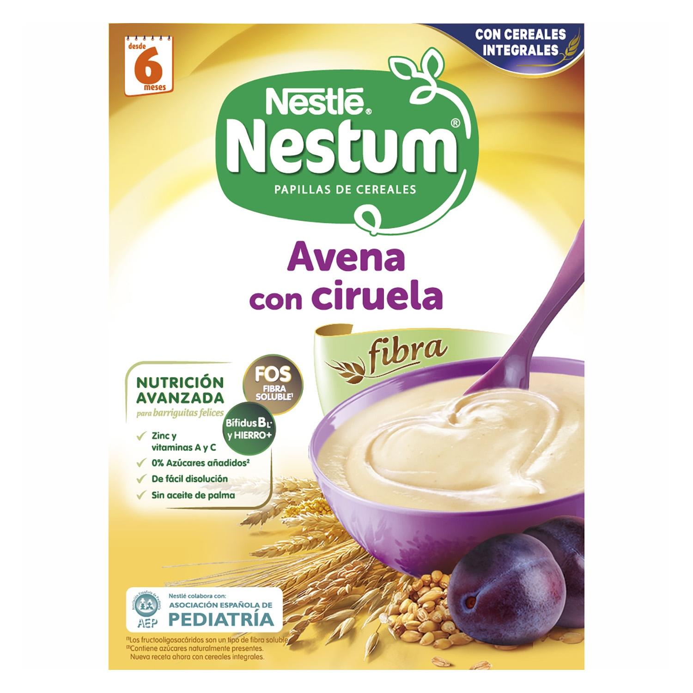 Papilla de avena con ciruelas Nestlé Nestum 250 g.