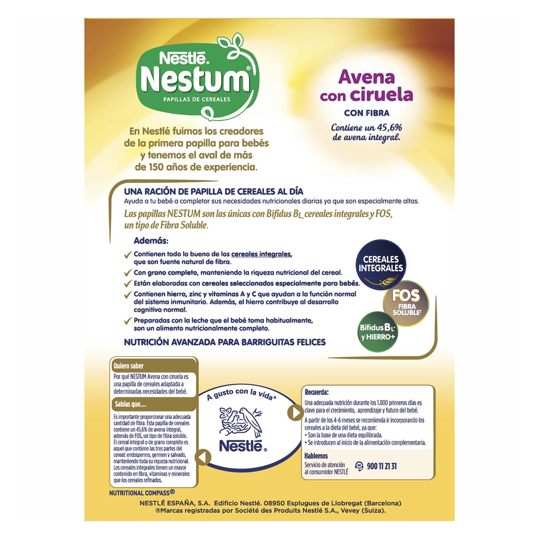 Papilla de avena con ciruelas Nestlé Nestum 250 g. - 2