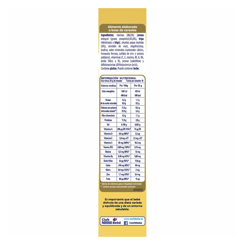 Papilla de avena con ciruelas Nestlé Nestum 250 g. - 3