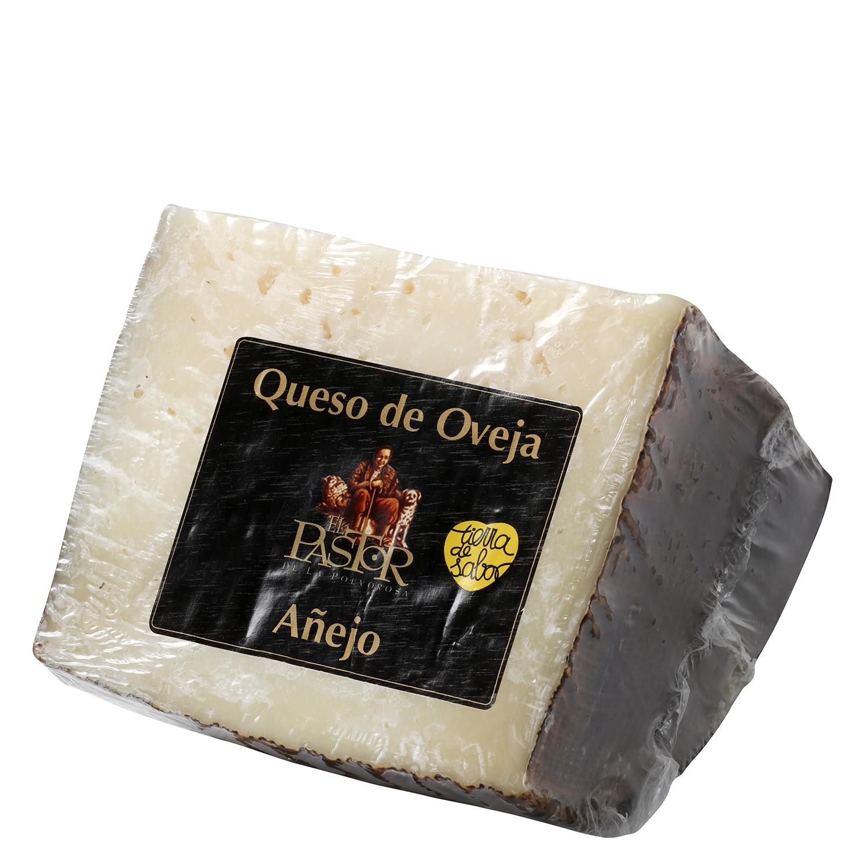 Queso puro de oveja añejo graso El Pastor de la Polvorosa cuña 1/4, 800 g aprox
