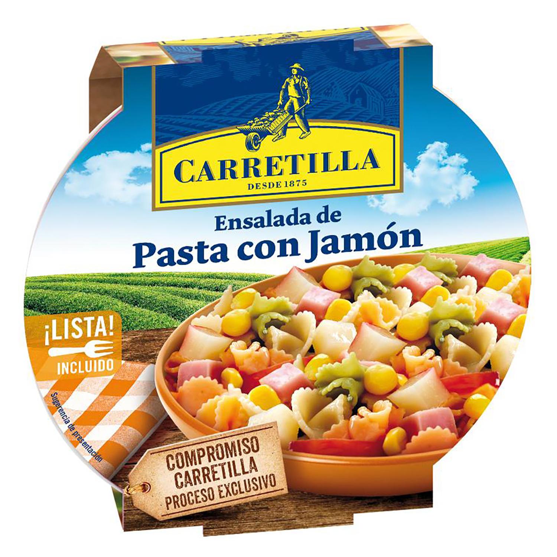 Ensalada de pasta con jamón