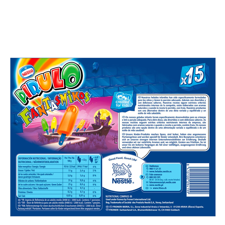 Helado Fantasmikos Pirulo Nestlé 15 ud. -